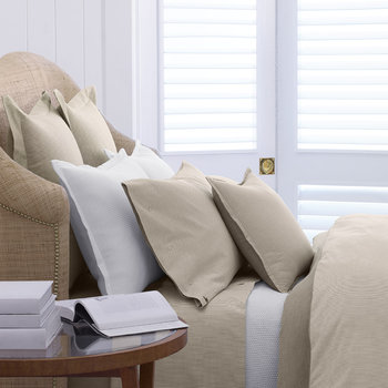 Oxford Quilt Cover - Sand