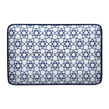 Nippon Blue Rectangular Plate - Stripe