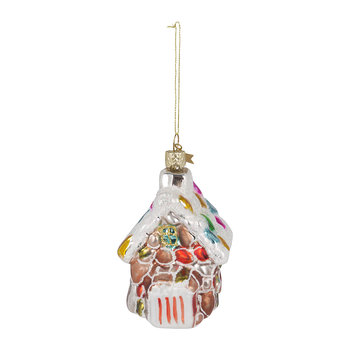 Candy House with Snow Roof Tree Decoration