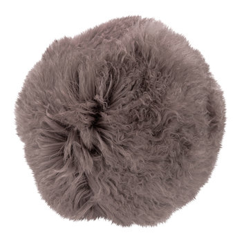 Mongolian Lambskin Cushion - Round - Rose