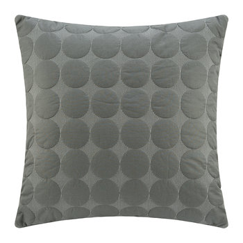 Mega Dot Pillow - Dark Gray