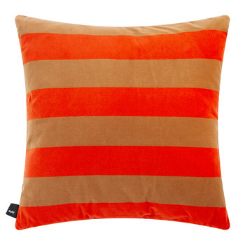 Coussin Rayure Douce - Rouge