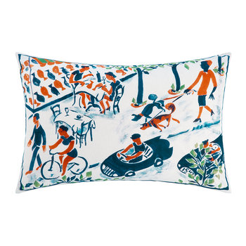 The Blue Car Cushion - 60x40cm