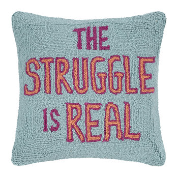 "Coussin ""The Struggle Is Real"" - 40x40cm"