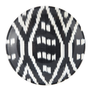 Ceramic Ikat Side Plate - Black/White