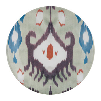 Ceramic Ikat Side Plate - Teal/Purple