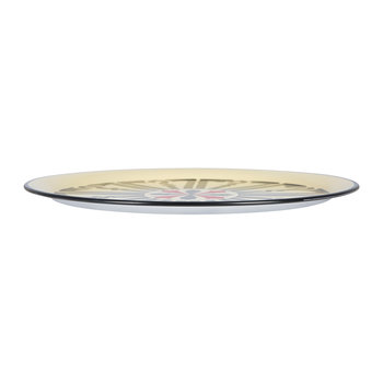 Ikat Hand-painted Round Iron Tray