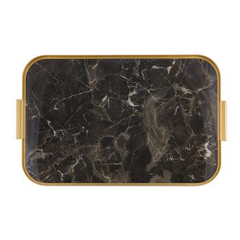 Marble Lap Tray - Brown