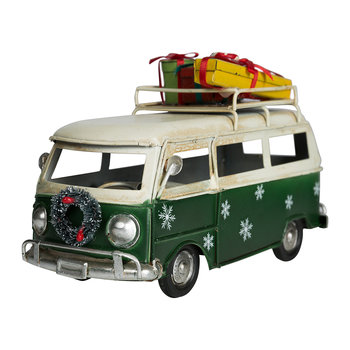 Bus with Presents Ornament - Green