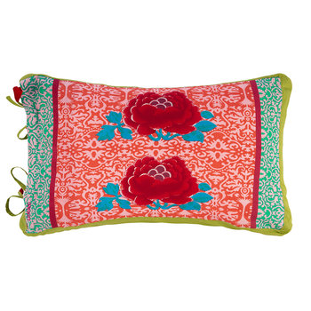 Cotton Cambric Cushion - 35x50cm - Green