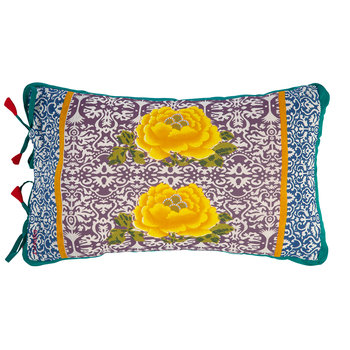 Cotton Cambric Cushion - 35x50cm - Turquoise