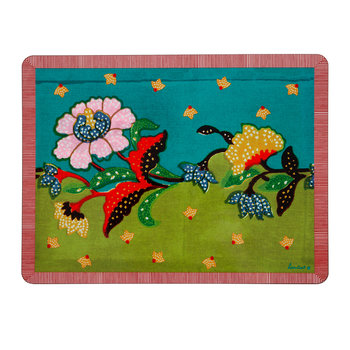 Indonesian Inspired Placemat - Peacock - Rectangular