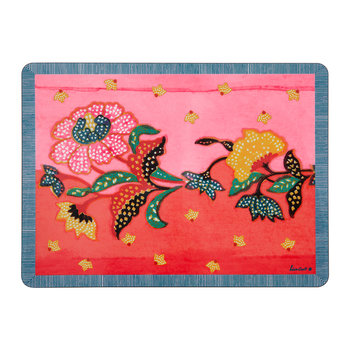 Indonesian Inspired Placemat - Red - Rectangular