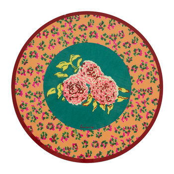 Leopard Flower Round Placemat - Orange