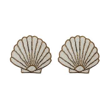 Shell Beaded Coaster - Set of 2