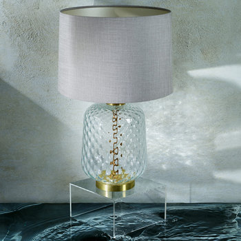 Risco Glass Table Lamp - Clear