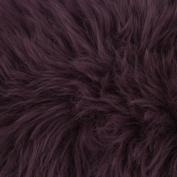 New Zealand Sheepskin Cushion - 28x56cm - Aubergine