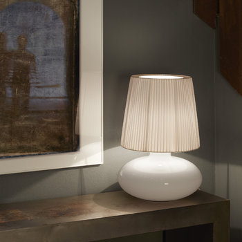Muf Glass Table Lamp - White Ribbon