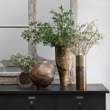 Marwood Vase - Brass