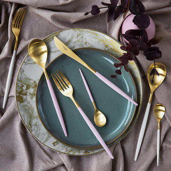 Mio Table Spoon - Pink Gold