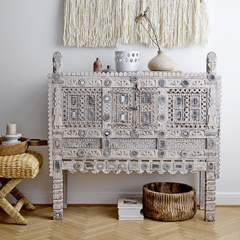 Recycled Console Table - White Wash