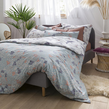 Floral Flight Quilt Cover - Iris