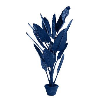 Banana in Pot - Dark Blue