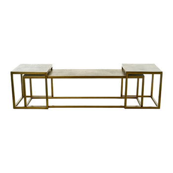 Slide Table Trio - Gold