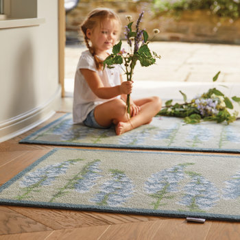 Floral Washable Recycled Door Mat - 65x85cm