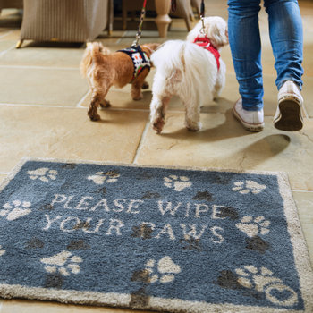 Paws Washable Recycled Door Mat - 65x85cm