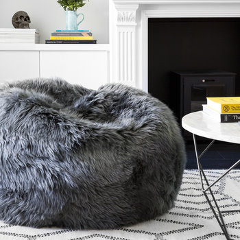 New Zealand Sheepskin Bean Bag - Candy