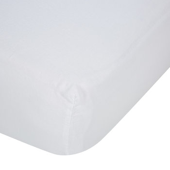 Luna Linen Fitted Sheet - White