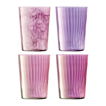 Assorted Gems Tumbler - Set of 4 - Garnet