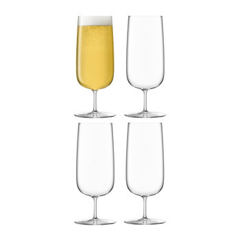 Borough Pilsner Glass - Set of 4 - Clear