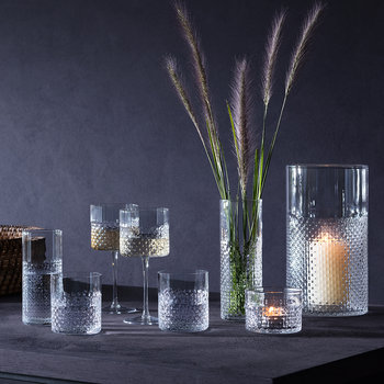 Wicker Highball Glass - Set of 2 - Clear