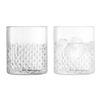 Wicker Tumbler - Set of 2 - Clear