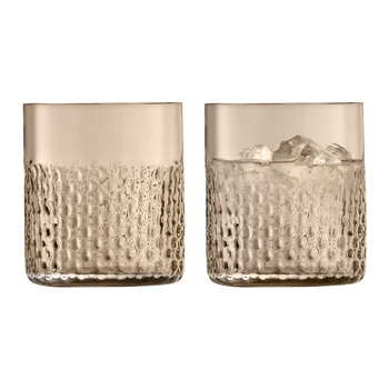 Wicker Tumbler - Set of 2 - Taupe