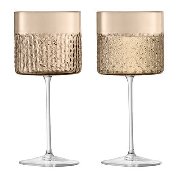 Verre à Vin Wicker - Lot de 2 - Taupe