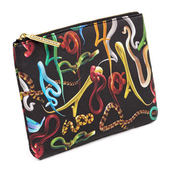 Small Cosmetics Bag - Snakes