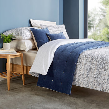 Giverny Quilt Set - Ink Blue