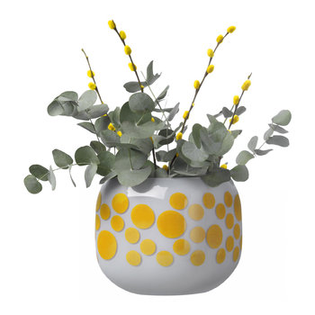 Mono Box Iris Inspiration Vase - Yellow