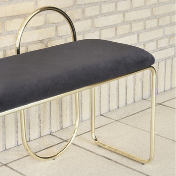 Angui Bench - Anthracite/Gold