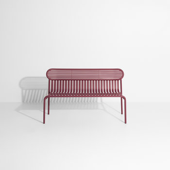 Filaire Outdoor Bench - Burgundy