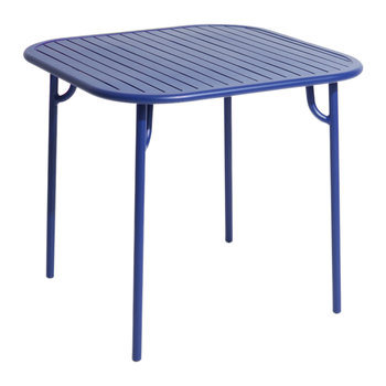 Filaire Outdoor Square Table - Blue