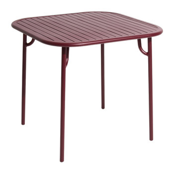 Filaire Outdoor Square Table - Burgundy