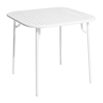 Filaire Outdoor Square Table - White