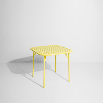 Filaire Outdoor Square Table - Yellow