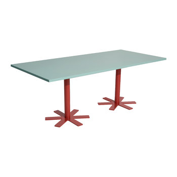 Parrot Rectangular Dining Table - Light Turquoise