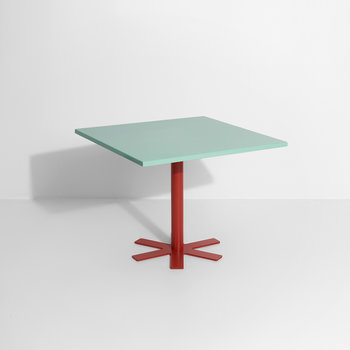 Parrot Square Dining Table - Light Turquoise