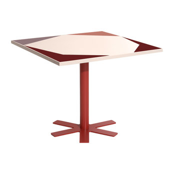 Parrot Square Dining Table - Pink Pattern